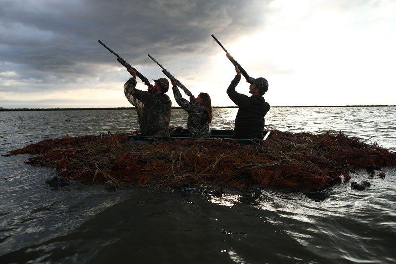 Caccia all'anatra fucili da caccia Franchi