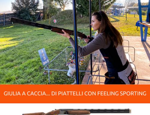 """GIULIA TABOGA A CACCIA… DI PIATTELLI CON FEELING SPORTING, IL SOVRAPPOSTO PER IL """"PERCORSO CACCIA"""""""