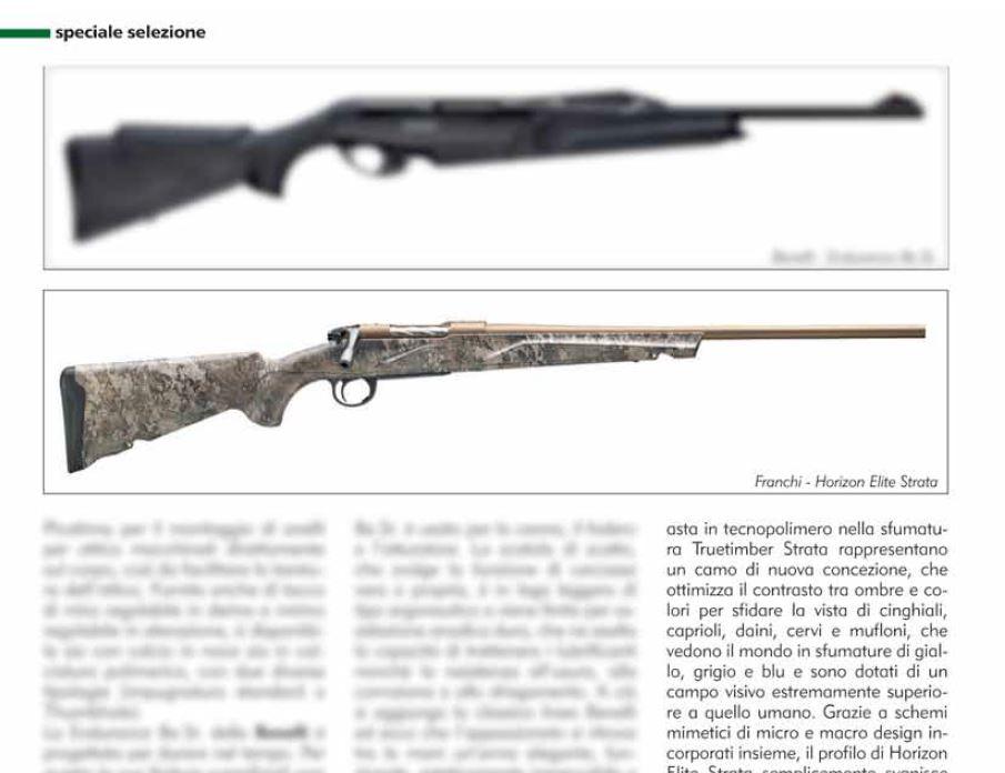 carabina da caccia bolt action