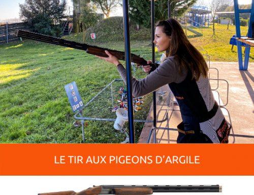 GIULIA TABOGA CHASSE… LES PIGEONS D'ARGILE AVEC LE FEELING SPORTING, LE FUSIL A POMPE POUR « LE TIR AUX PIGEONS D'ARGILE »